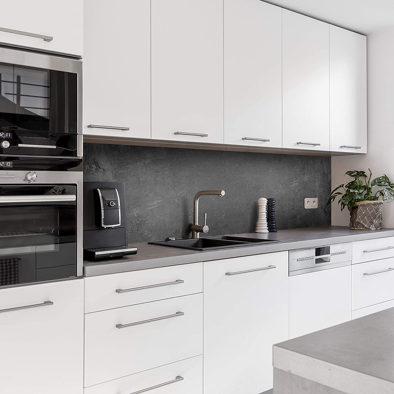 Küchenrückwand mit Beton V2 Motiv als Fliesenersatz und Spritzschutz