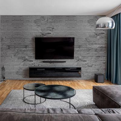 Wandverkleidung für das Wohnzimmer mit Ziegelsteine V3 Motiv